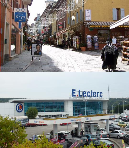 Commerces de proximité versus centres commerciaux